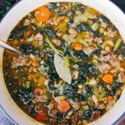 Супа със спанак и бял боб