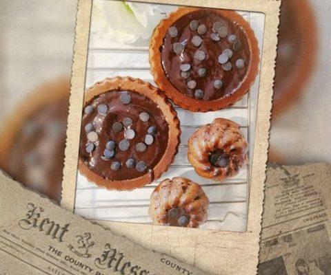 Протеинови мъфини с шоколадов пълнеж