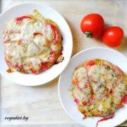 Вегетариански мини протеинови пици